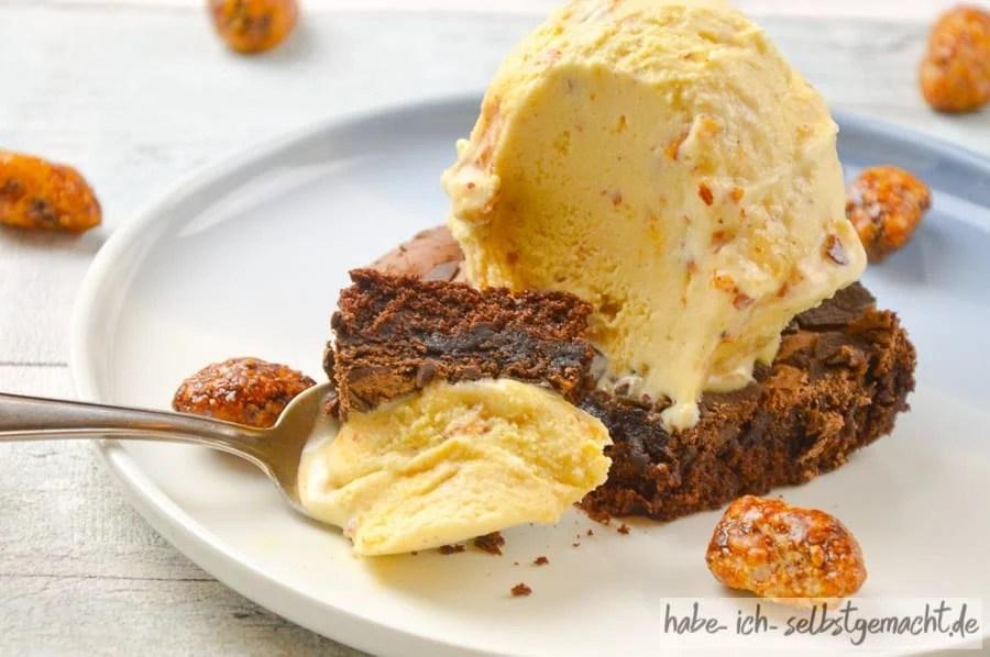 Köstliches Gebrannte Mandel Eis