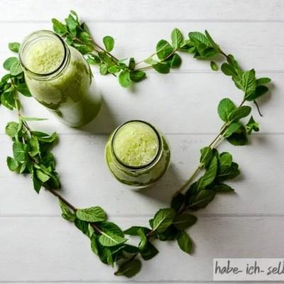 Sommerlich leichter Ananas Gurke Minze Saft