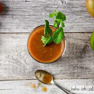 Food Pairing – Minze-Kiwi-Tomaten-Saft