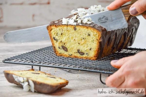 Schoko-Kokos Kuchen frisch aus dem Ofen
