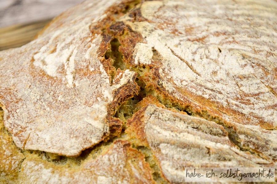 Spinat Brot - krachende Kruste