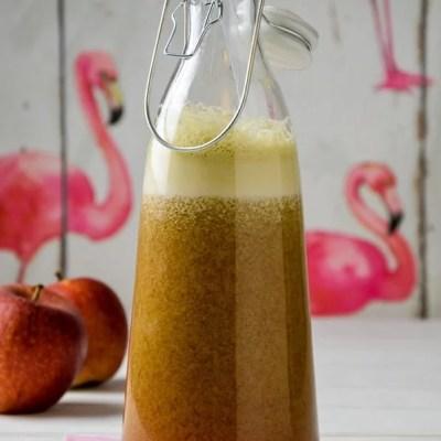 Hallo Wach! Frischer Rhabarber Apfel Kiwi Saft