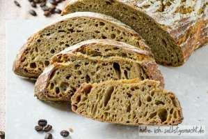 Rezept für ein Sauerteig Kaffee Brot