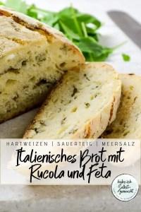 Italienisches Brot mit Rucola und Feta Rezept