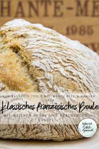 Klassisches französisches Boule Brot Rezept