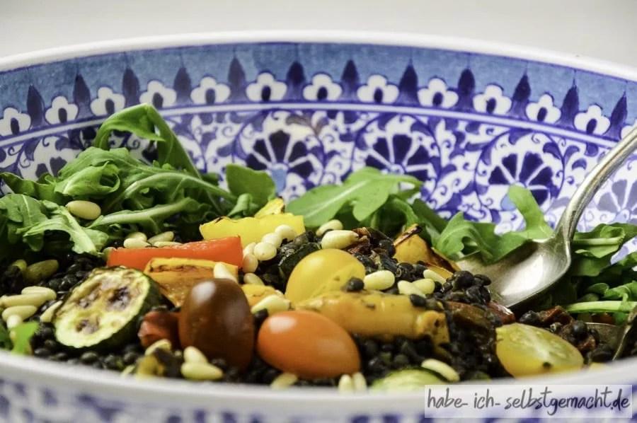 Proteinreicher Linsensalat
