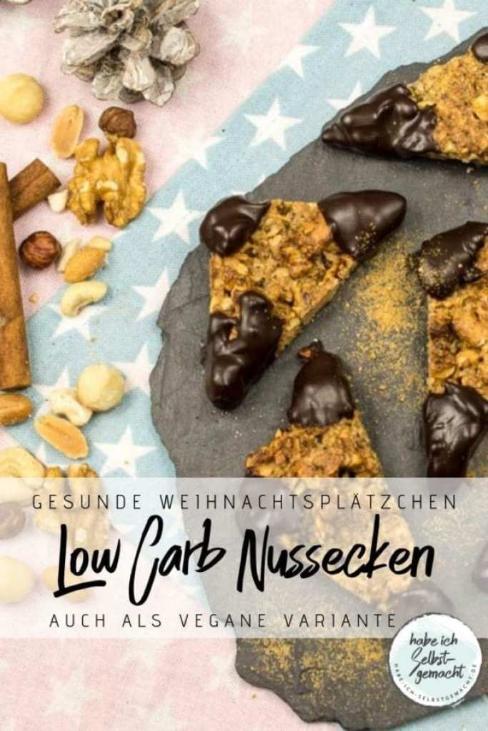 Low Carb Nussecken Pinterest Flyer