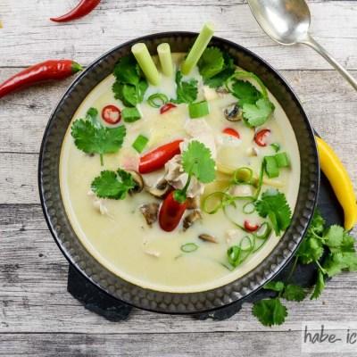 Tom Kha Gai – Thailändische Suppe mit Kokosmilch