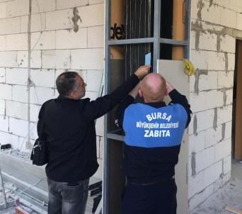 Mudanya Belediyesinin kaçak binası Büyükşehir tarafından mühürlendi