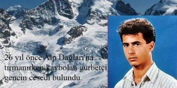 Gurbetçi dağcının 26 yıl sonra Alpler'de cenazesi bulundu