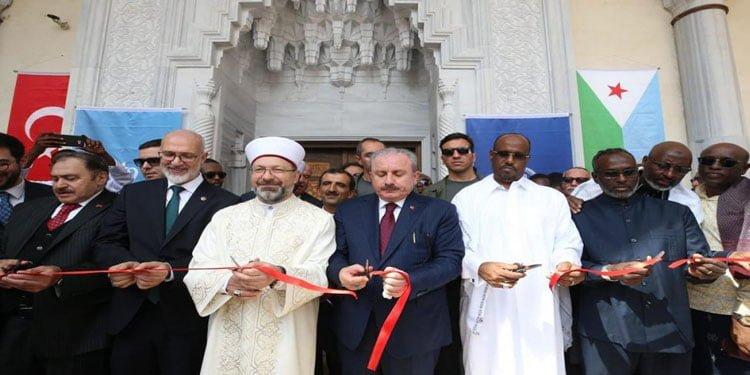 Türkiye'nin Cibuti halkına hediyesi 2. Abdülhamid Han Camii dualarla açıldı