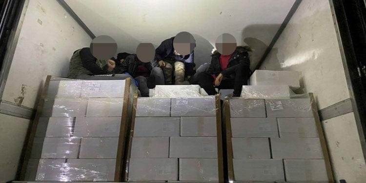 Türk tırının konteynırında 11 mülteci ölmek üzereyken kurtarıldı