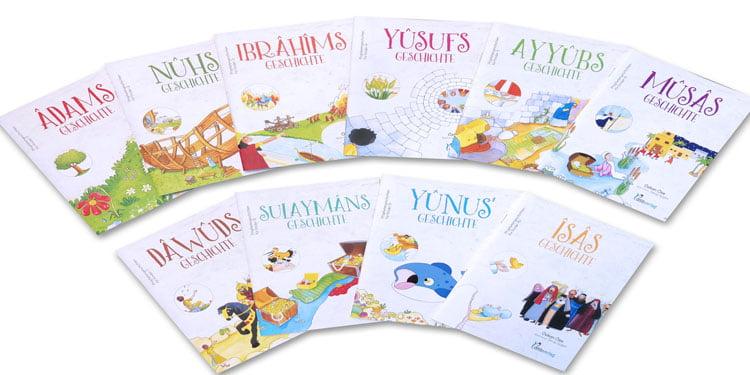 """Çocuklara Almanca """"Peygamber Hikayeleri"""" kitapları"""