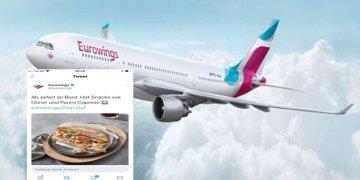 Eurowings'te döner satışı başladı