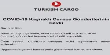 Koronavirüsten ölenlerin cenazeleri Türkiye'ye getirilmeyecek