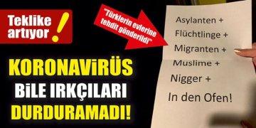 Irkçılara koronavirüs bile engel olamadı