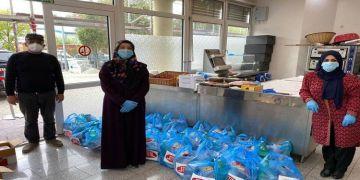 DİTİB hayır marketinde ihtiyaç sahiplerine iftar paketi dağıtıyor