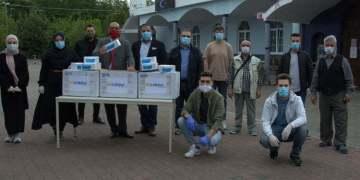 20 camiye 6 bin maske bağışlandı