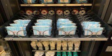 Otomatiklerde meşrubat yerine  maske ve dezenfektan
