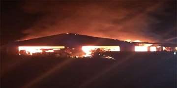Achern camisinde şüpheli yangın