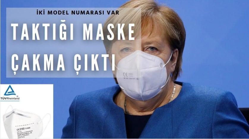 Merkel'in maskesi sahte çıktı