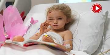 Elif hastanedeki odasından el salladı (VİDEO)