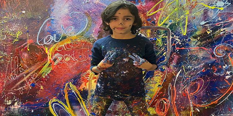 Almanya'da iki genç ressamın tablosu depremzedeler için satılacak
