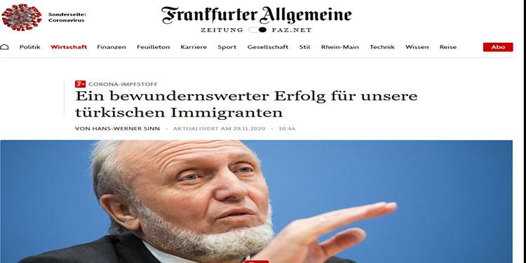 Alman gazetesinden Türk göçmenlere övgü