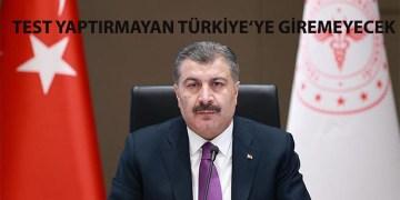 Türkiye'ye gidenlere son 72 saatte yapılmış PCR testi zorunluluğu getirildi