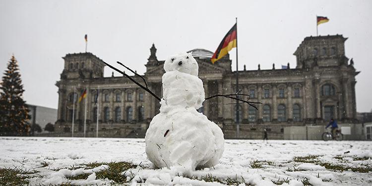 Berlin'den kar görüntüleri