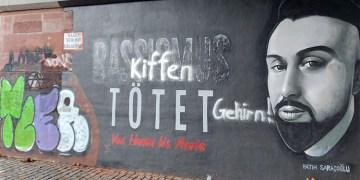 Hanau kurbanları grafitisine saldırı