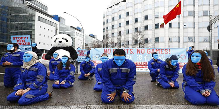 Çin'in Uygurlara zulmü Berlin'de protesto edildi