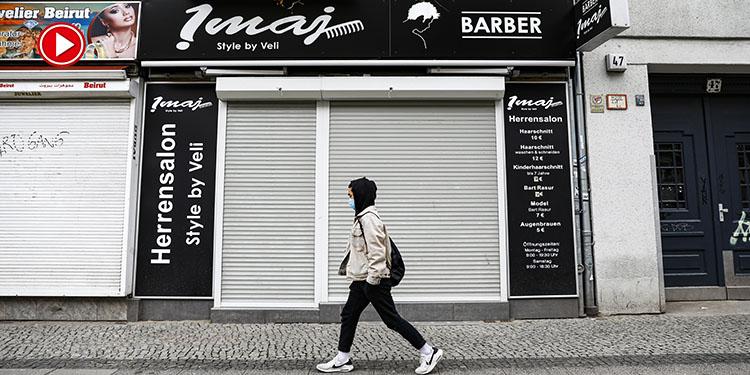 Almanya'da berberler 11 hafta aradan sonra kapılarını müşterilerine açacak (VİDEO)