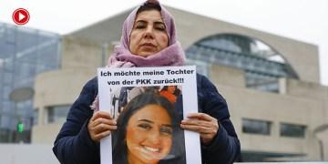 Almanya'da PKK tarafından kızı kaçırılan anne eylemini Başbakanlık önünde sürdürüyor (VİDEO)
