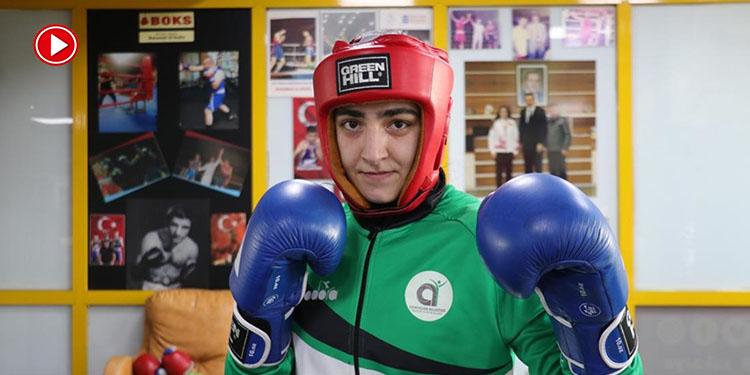 Avrupa birincisi milli boksör Ece'nin hedefi dünya şampiyonluğu (VİDEO)
