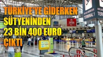 Gurbetçi kadının 36 bin Euro'suna el koyuldu