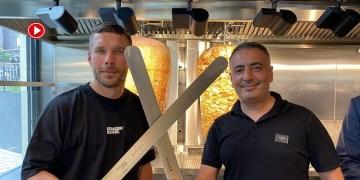 Ünlü futbolcu Lucas Podolski ile Türk ortağı Metin Dağ döner zinciri ile dünyaya açılıyor (VİDEO)