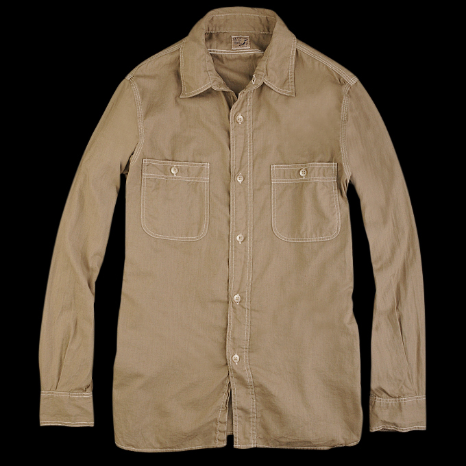 Orslow_Chambray_Shirt_Beige