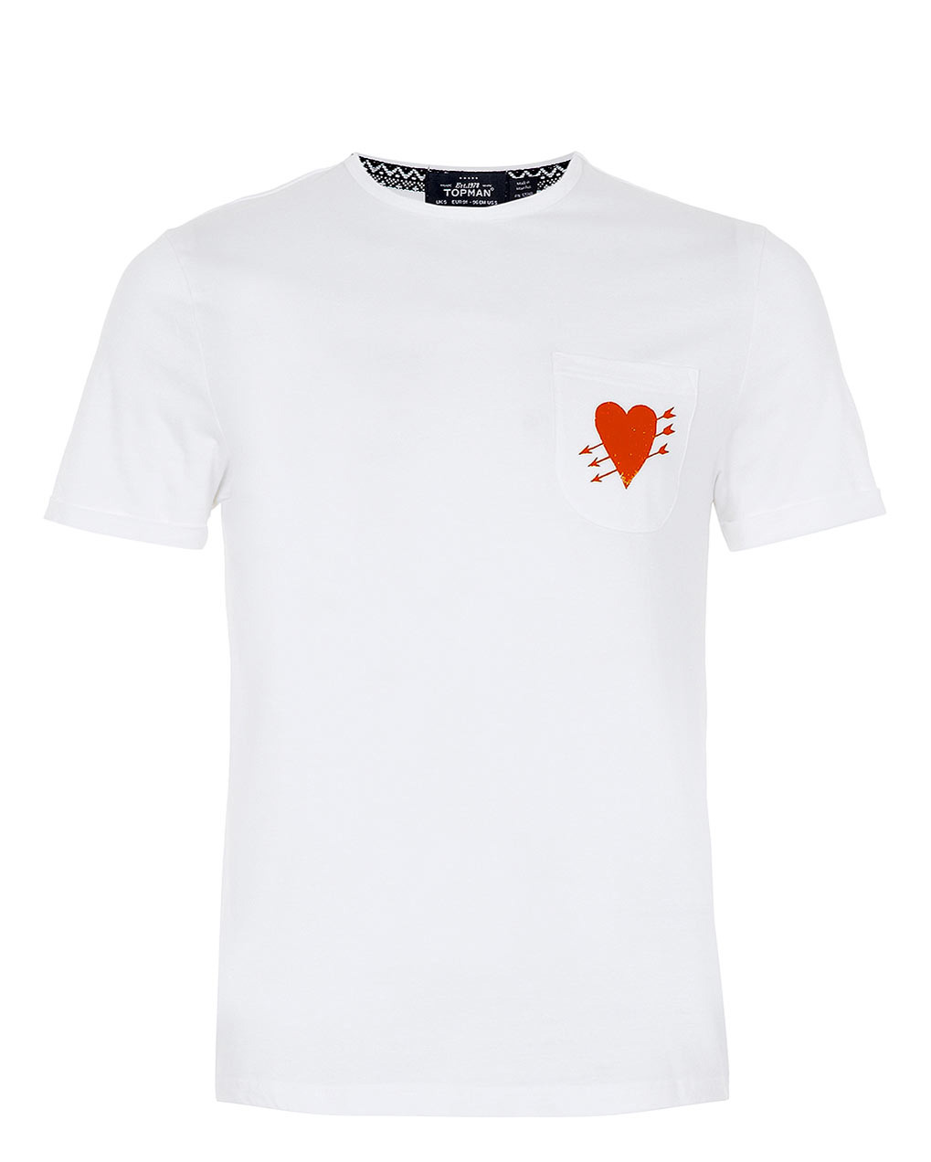 White Heart Pocket T