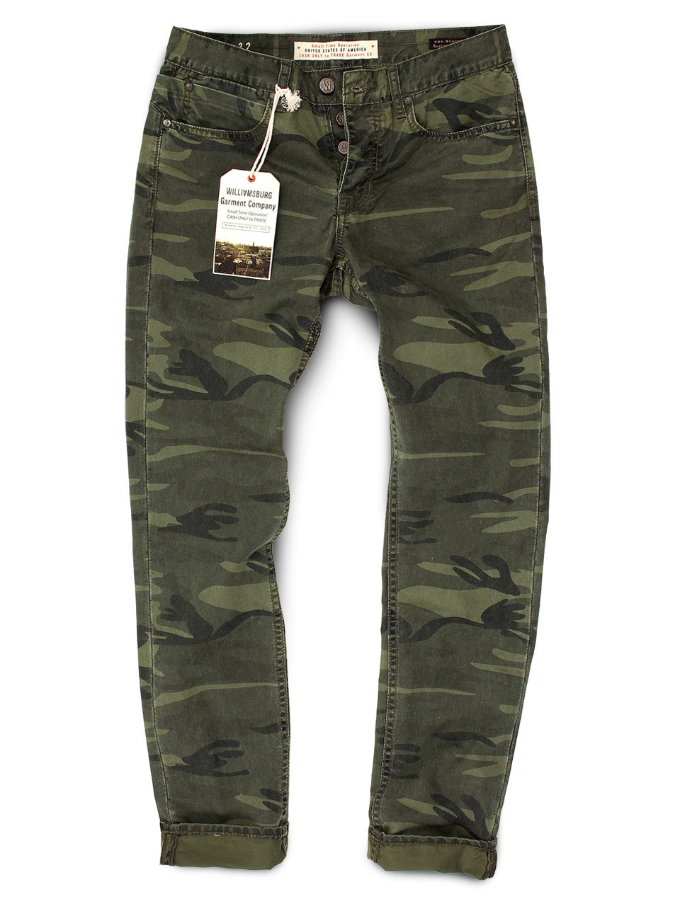 Forest Camouflage Slim Jean-Cut pants - GRAND STREET