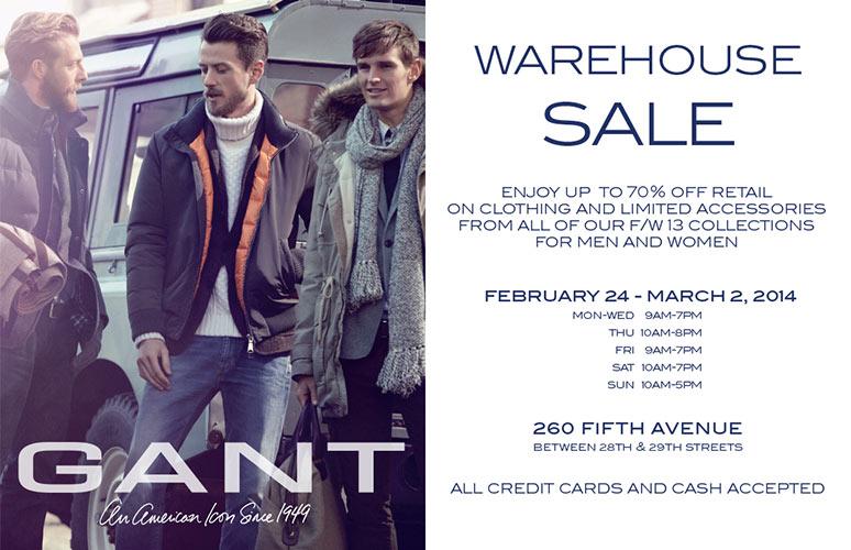 GANT 2014 Sample Sale