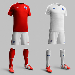 Nike Unveils England's New 2014 Kit