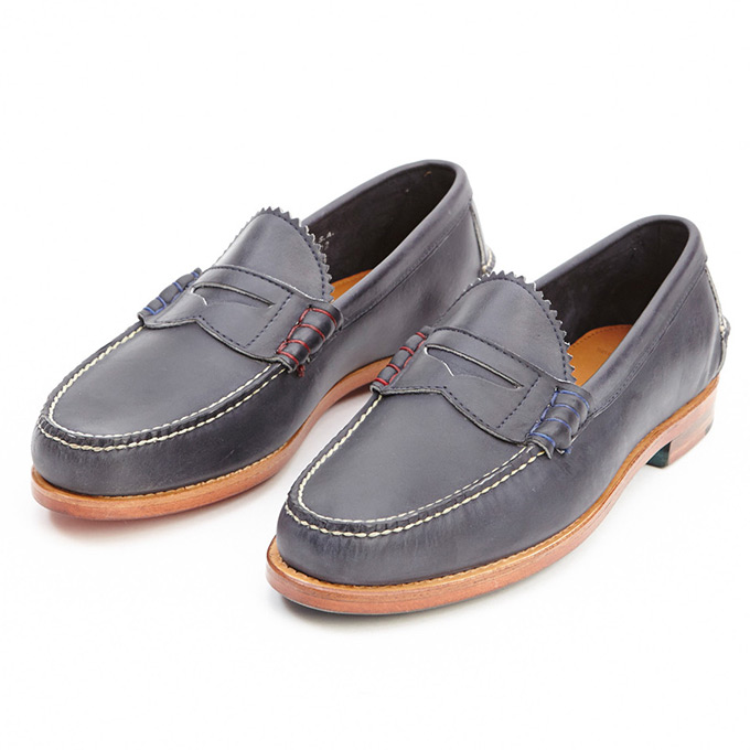 Band of Outsiders X Rancourt Penny Loafer Navy