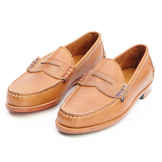 Band of Outsiders X Rancourt Penny Loafer Tan