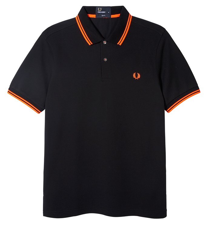Fred Perry Soho Neon_Polo Orange Tip