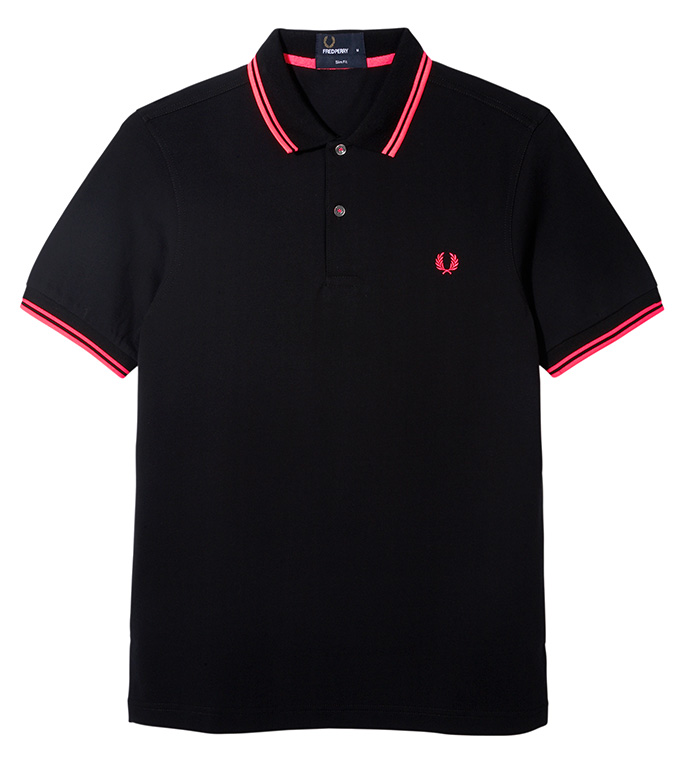 Fred Perry Soho Neon_Polo Pink Tip