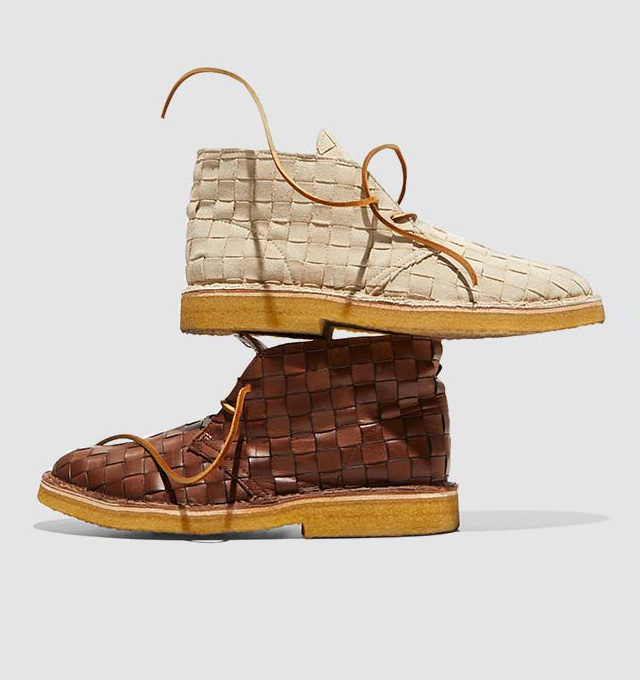 classic fit 79aeb 06ac8 B. x Clarks Woven Desert Boots