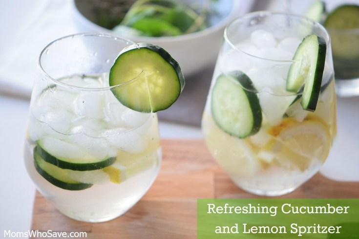 Refreshing Cucumber and Lemon Spritzer