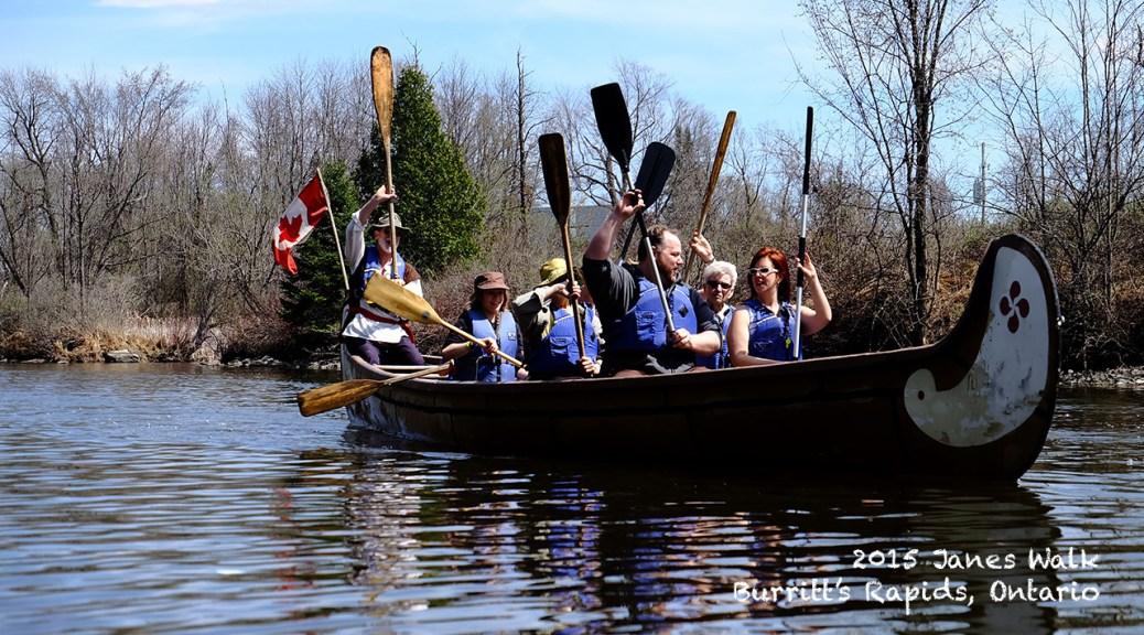 Jane's Walk Burritt's Rapids Voyageur canoe