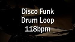 Disco Funk Drum Loop 118bpm